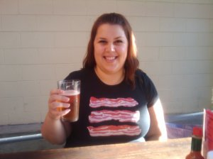 Yes, that's a sparkly bacon tshirt. I enjoy cured vampire.
